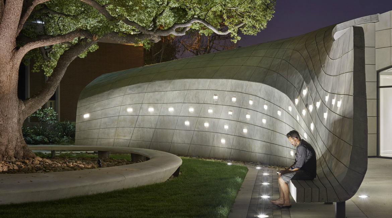 Kaplan Family Pavillion at City of Hope | Exterior | Night