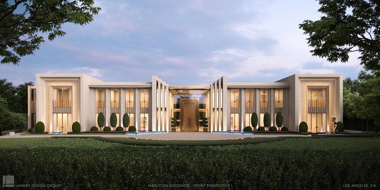 Mapleton Residence   Exterior Front   Landry Design Group