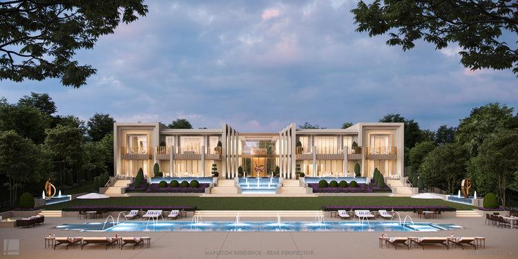 Mapleton Residence | Exterior Rear | Landry Design Group